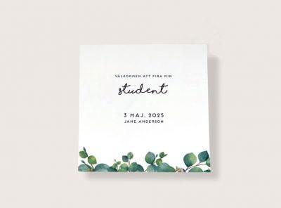 Inbjudningskort-student-Eucalyptus-sid-1