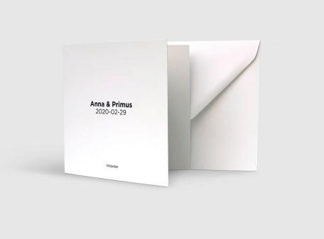 Inbjudningskort Funkis fyra sidor med kuvert