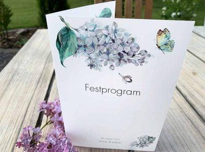 Festprogram blomma