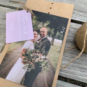 tackkort bröllop rosa